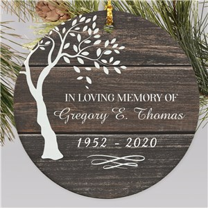 Memorial Ornaments | In Memory Of Ornament for Man