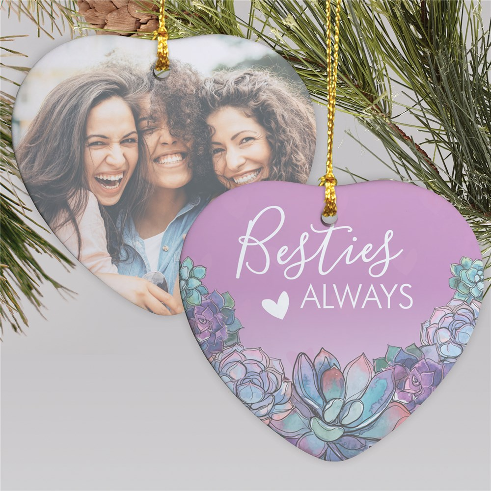 Best Friends Ornaments | Personalized Purple Ornament