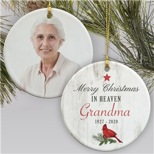 Christmas Memorial Ornaments | Cardinal Christmas Ornament In Memory Of