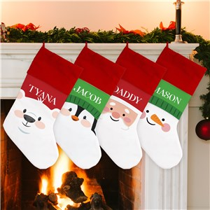 Personalized Kid's Christmas Stocking | Christmas Face Stocking With Name