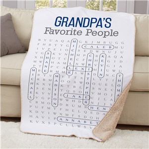 Personalized Word Search Blanket | Custom Blanket Gifts For Puzzle Lover