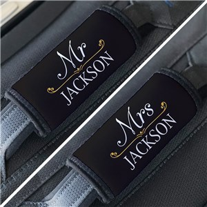 Personalized Wedding Luggage Grabber | Mr. and Mrs. Luggage Grips