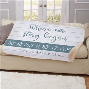 Personalized Blankets | Blanket With Coordinates