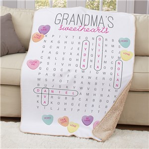 Personalized Blankets | Word Search Blanket