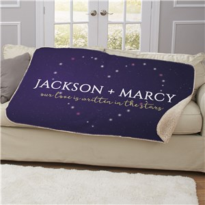 Personalized Romantic Blanket | Couples Sherpa