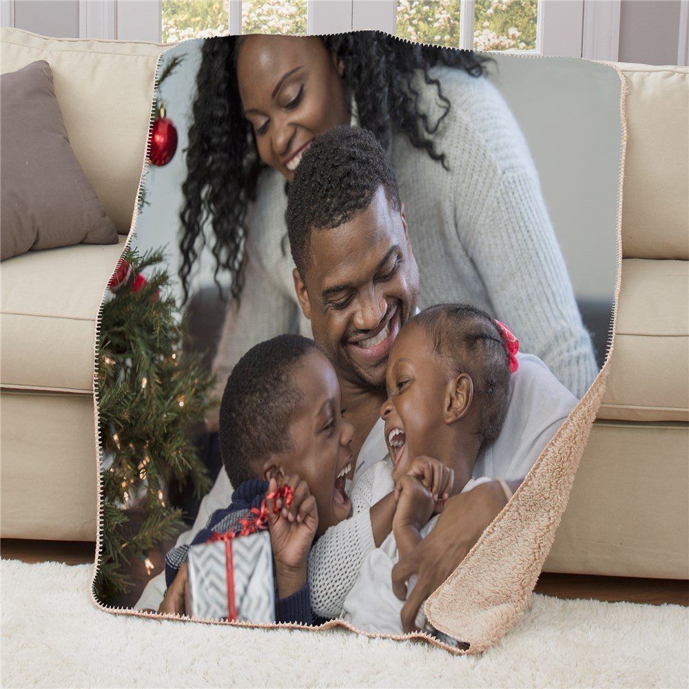 Personalized Photo 50x60 Sherpa Blanket