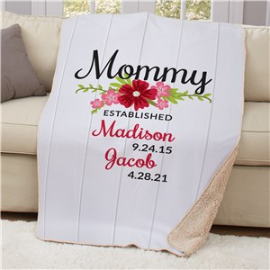 Personalized Throw Blanket with Kids' Names