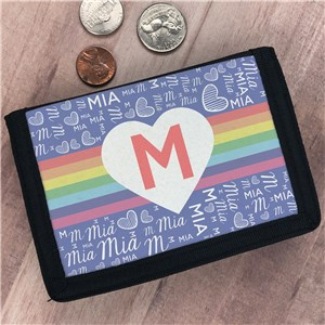 Personalized Kids' Rainbow Wallet
