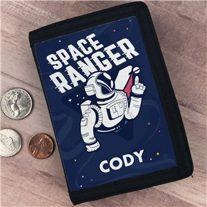 Personalized Space Ranger Kids' Wallet