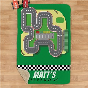 Personalized Kids' Race Car Blanket