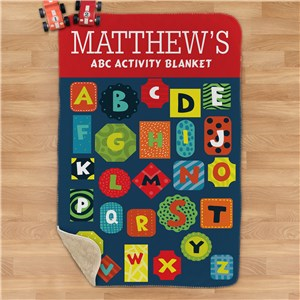 Personalized ABC Activity Sherpa Blanket U1633187