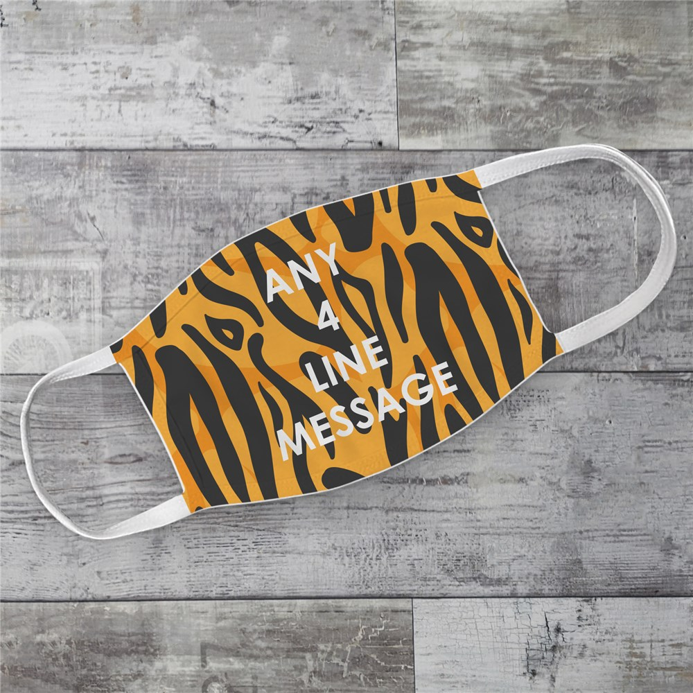 Personalized Tiger Print Face Mask