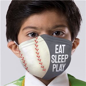 Eat Sleep Play Sports Kids' Face Mask
