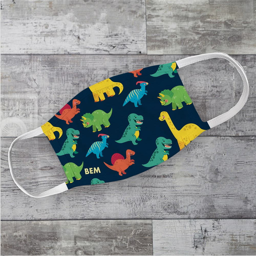 Personalized Dinosaur Kids' Face Mask