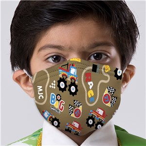 Personalized Monster Truck Kids' Face Mask
