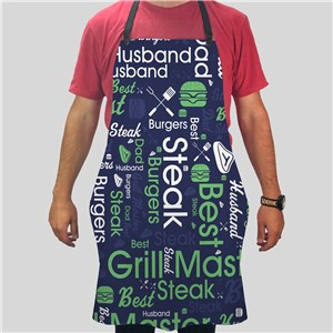 Personalized Grilling Word Art Apron
