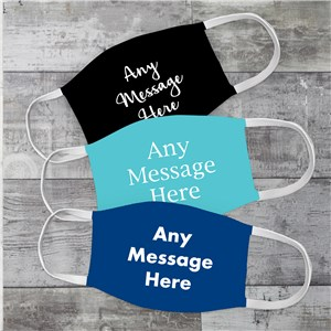 Personalized Any Message Face Mask