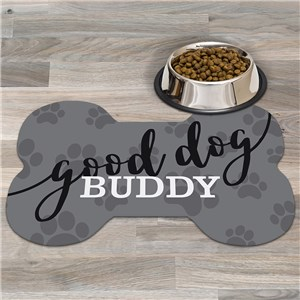 Personalized Good Dog Bone Shaped Doormat