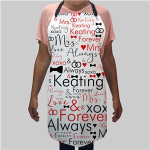 Future Mrs. Word Art Apron