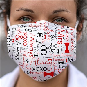 Future Mrs. Word Art Face Mask