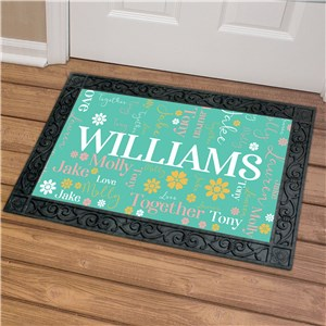 Family Word Art Doormat with Custom Text