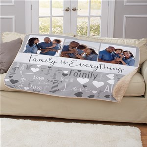 Family Is Everthing Word Art 50x60 Blanket