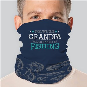 Personalized Rather Be Fishing Gaiter