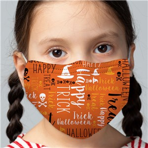 Trick or Treat Word Art Mask