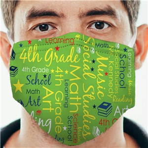 Teachers Word Art Face Mask