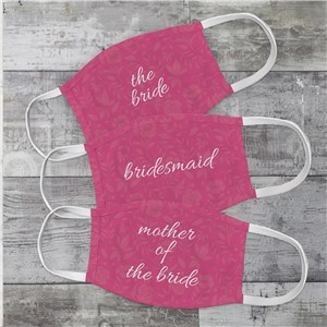 Personalized Bridal Party Face Mask