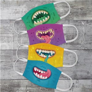 Personalized Family Monster Mouths Youth Face Mask