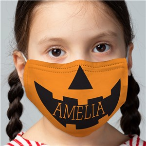 Personalized Kids' Pumpkin Face Mask
