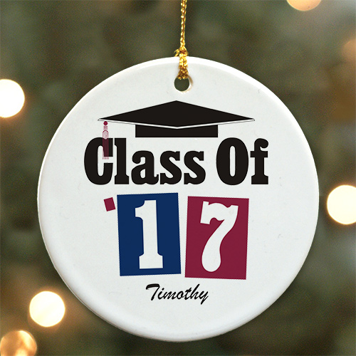 Personalized Ceramic Ornament for Graduation U170110