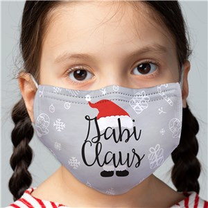Personalized Claus Youth Face Mask