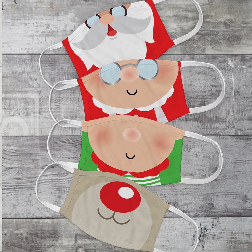 Christmas Characters Youth Face Mask