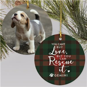 Personalized Rescue It Photo Double Sided Round Ornament