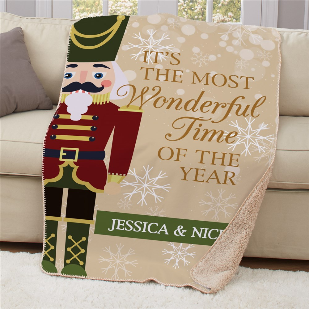 Personalized Nutcracker Sherpa Blanket