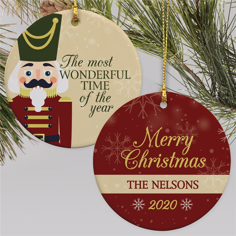 Personalized Nutcracker Round Double Sided Ornament
