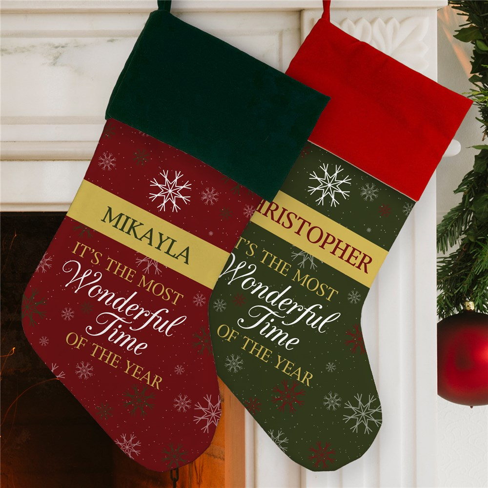 Personalized Most Wonderful Time Stocking