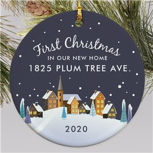 Personalized New Home Round Ornament