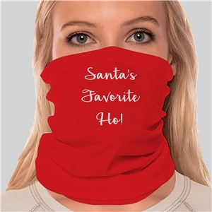 Personalized Any Message Christmas Gaiter