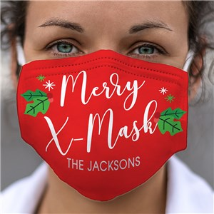 Personalized Merry X-Mask Face Mask