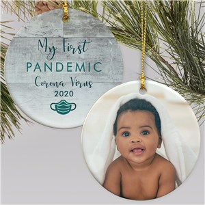 Personalized My First Pandemic Double Sided Photo Ornament