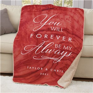 Personalized Forever My Always 50x60 Sherpa Blanket U17334119