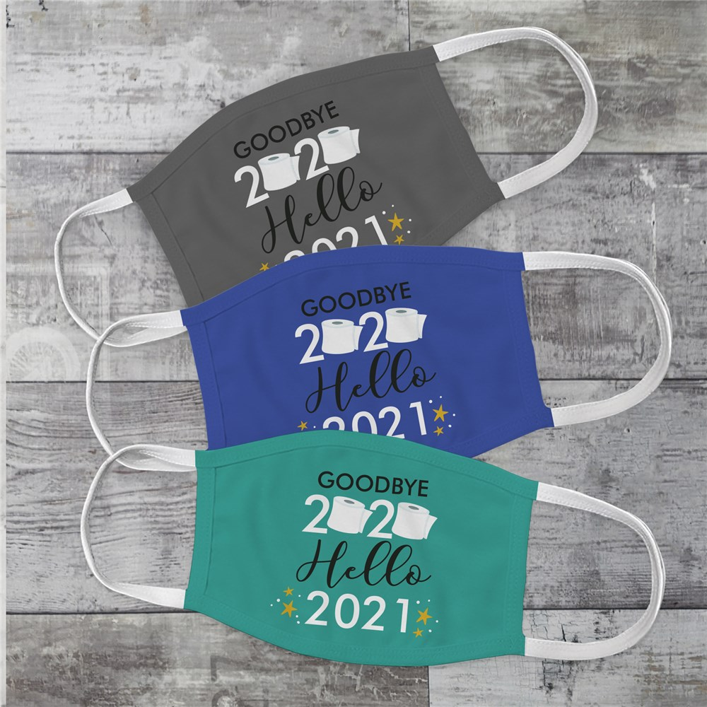 Personalized Goodbye 2020 Hello 2021 Face Mask