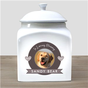 Personalized In Loving Memory Photo Pet Urn