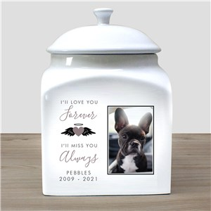 Personalized I'll Love You Forever I'll Miss You Always with Photo Pet Urn