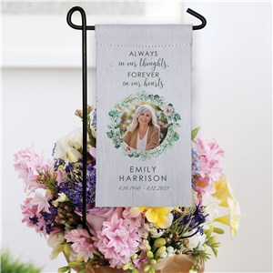 Personalized Always In Our Hearts Mini Garden Flag