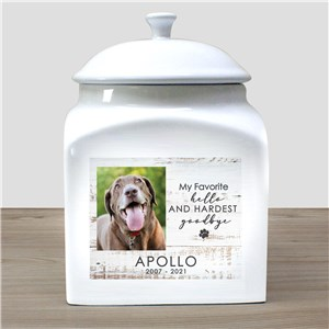 Personalized Hardest Goodbye Pet Urn