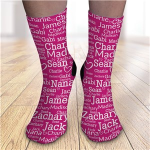 Best Ever Word Art Crew Socks for her